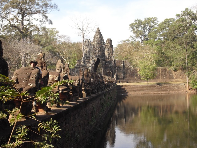 Giants at Angkor Thom Gate, Siem Reap Cambodia