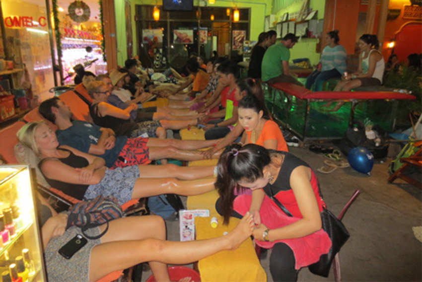 Footer Massage at Siem Reap, Cambodia