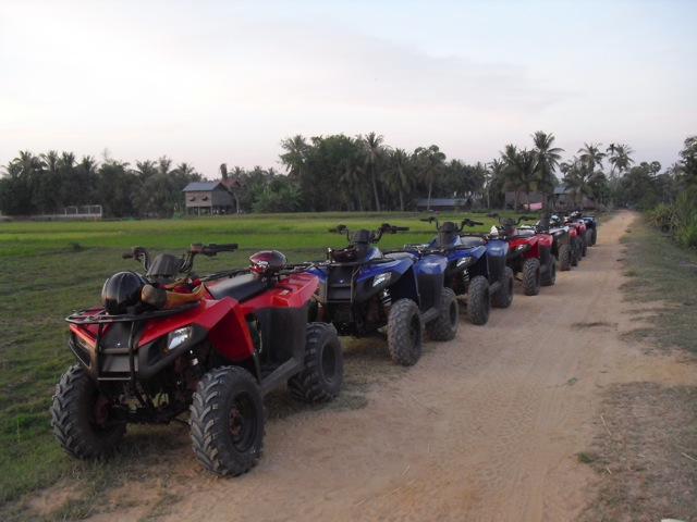 Motor for Sunset tour in Siem Reap, Cambodia