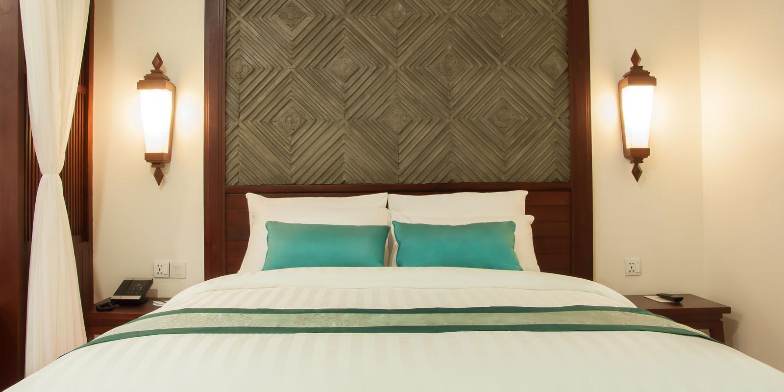 Landmark Double Bed at Lotus Blanc Resort