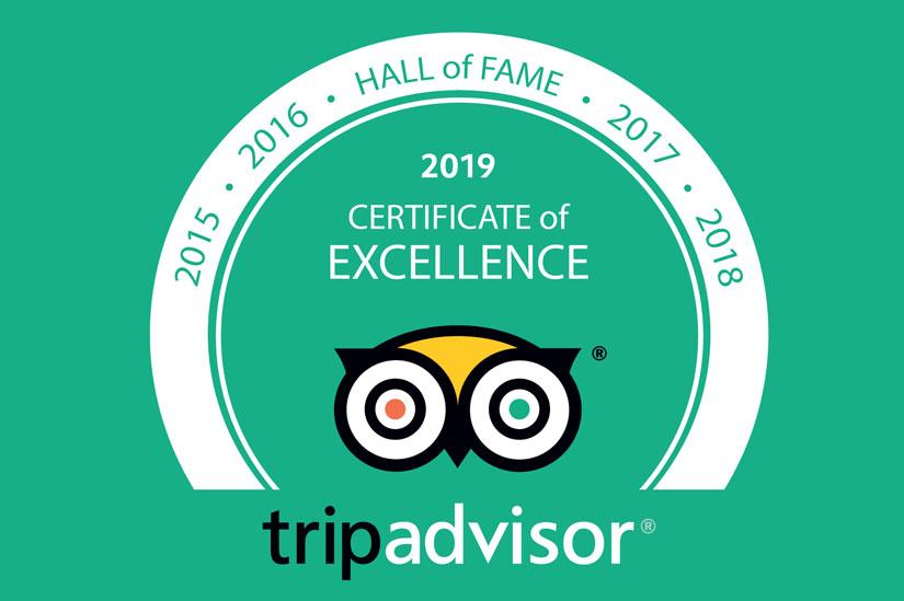 Lotus Blanc Resort Honors the 2019 Hall of Fame from Tripadvisor