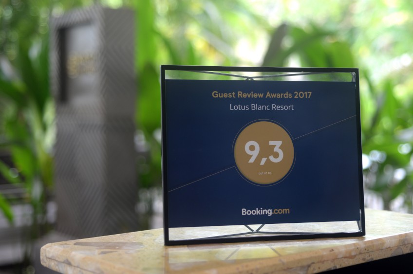Booking.com Awards Lotus Blanc Resort in Siem Reap